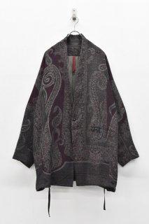 YANTOR / Paisley Jacquard Wool Fall Jacket - PURPLE