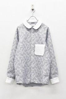 Ω / 丸襟シャツ - NAVY