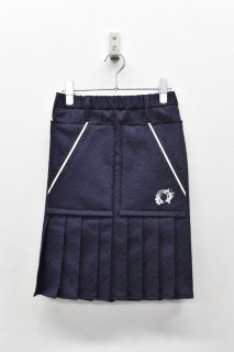 Ω / プリーツスカート - 紺