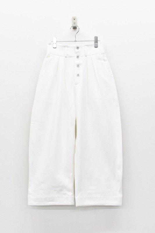 sneeuw / タックワイドパンツ - WHITE