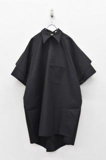 BALMUNG / バックオープンシャツ - 黒