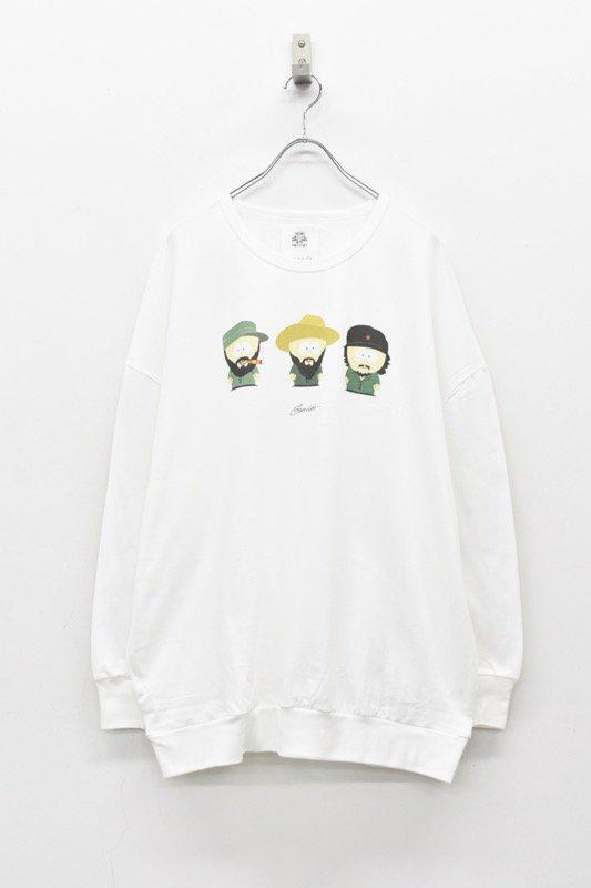 STOF / リラックス長袖Tシャツ CUBA3 - WHITE
