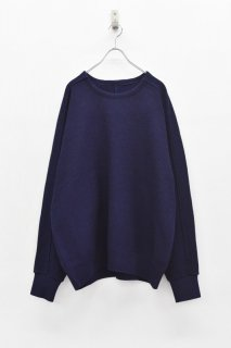 YANTOR / 10G Cotton Coarsely Knit - NAVY