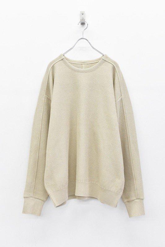 YANTOR / 10G Cotton Coarsely Knit - BEIGE