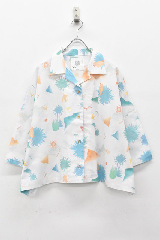 bedsidedrama / 昼夜のアロハシャツ - WHITE
