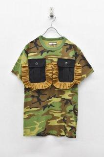 NON TOKYO / カスタムフリルポケットTシャツ - GREEN CAMO