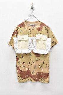 NON TOKYO / カスタムフリルポケットTシャツ - BEIGE CAMO