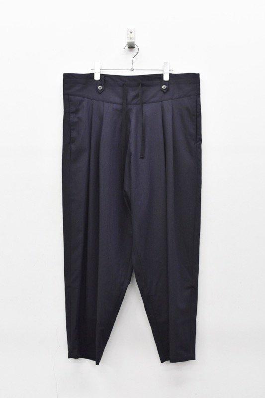 YANTOR / Torowool 2tuck Fall Pants  - NAVY