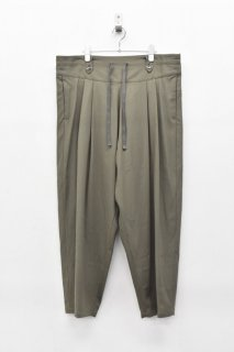 YANTOR / Torowool 2tuck Fall Pants  - OLIVE GRAY