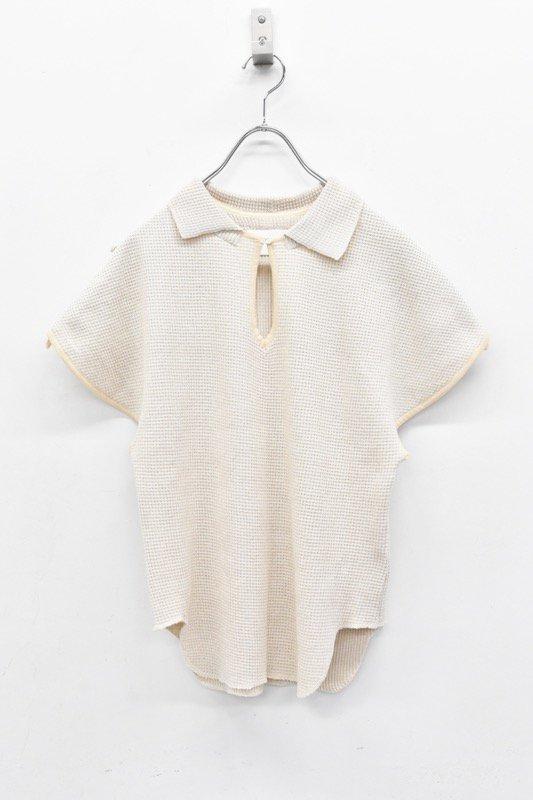 YUKI SHIMANE / Waffle Knit top - BEIGE