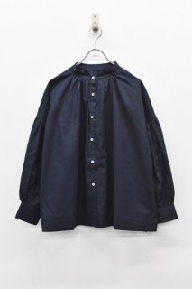 freckles / ギャザーサイドスリットシャツ - NAVY