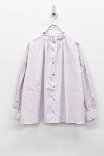 freckles / ギャザーサイドスリットシャツ - MAUVE