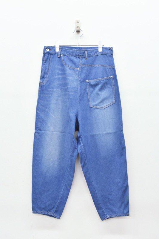 STOF / 反転ワイドジーンズ - BLUE