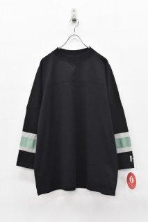 elephant TRIBAL fabrics / MOC NECK HOKKEY T - BLACK