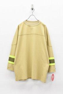 elephant TRIBAL fabrics / MOC NECK HOKKEY T - BEIGE
