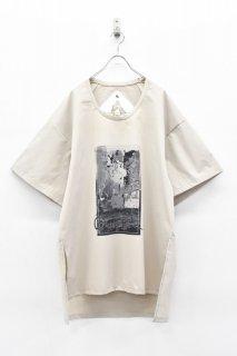 BALMUNG / プリントビッグTシャツ - CONCREAT PARK ベージュ