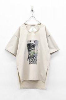 BALMUNG / プリントビッグTシャツ - HOMETOWN ベージュ