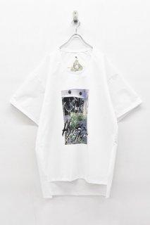 BALMUNG / プリントビッグTシャツ - HOMETOWN 白