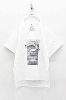 BALMUNG / プリントビッグTシャツ - POLYESTER 白