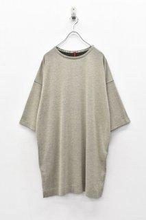 YANTOR / 14G Cotton Knit Pullover - BEIGE