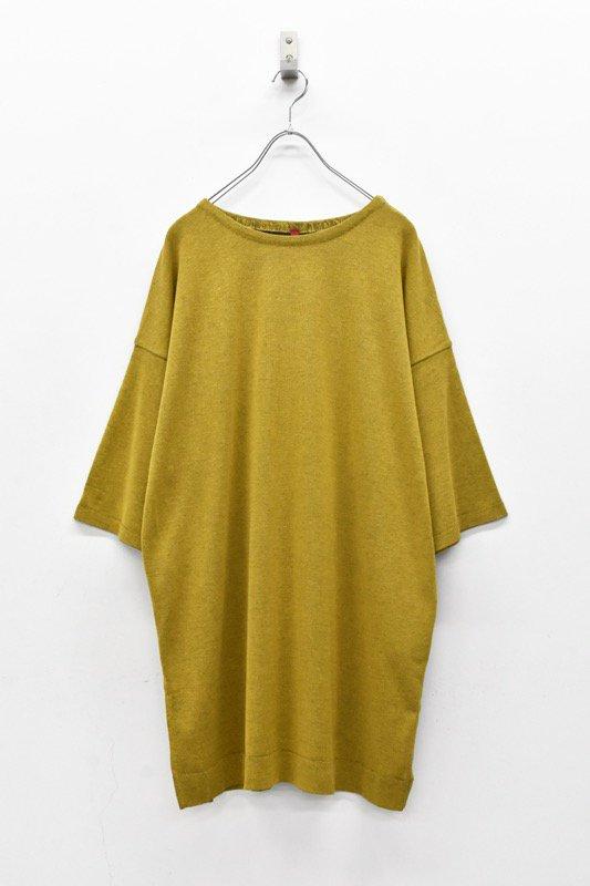 YANTOR / 14G Cotton Knit Pullover - MUSTARD