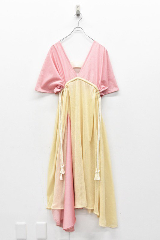 YUKI SHIMANE / Summer Knit tied dress - PINK