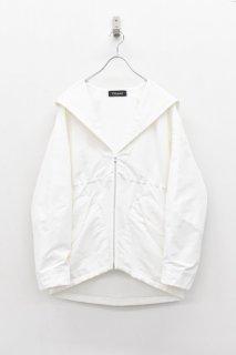<先行予約> chloma / セイラーフードジャケット - ホワイト