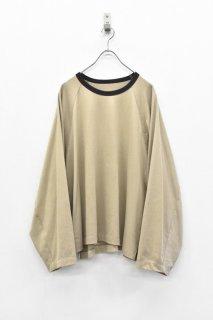 My Beautiful Landlet / リンガーL/S Tシャツ - BEIGE