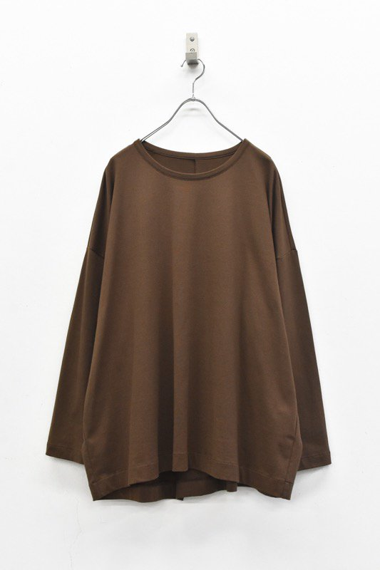 VOAAOV / アシンメトリーL/S Tシャツ - BROWN