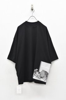 elephant TRIBAL fabrics / Inside Out Fat T (×岡本奇太郎) - BLACK