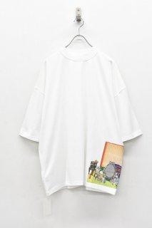 elephant TRIBAL fabrics / Inside Out Fat T (×岡本奇太郎) - WHITE