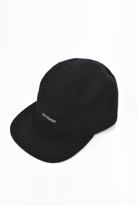 prasthana / 4panel jet cap - BLACK