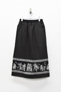 STORAMA / Mural JQ skirt - BLACK