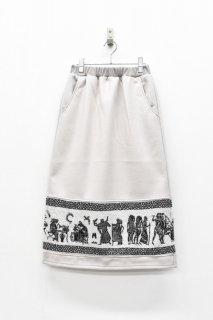 STORAMA / Mural JQ skirt - GRAY