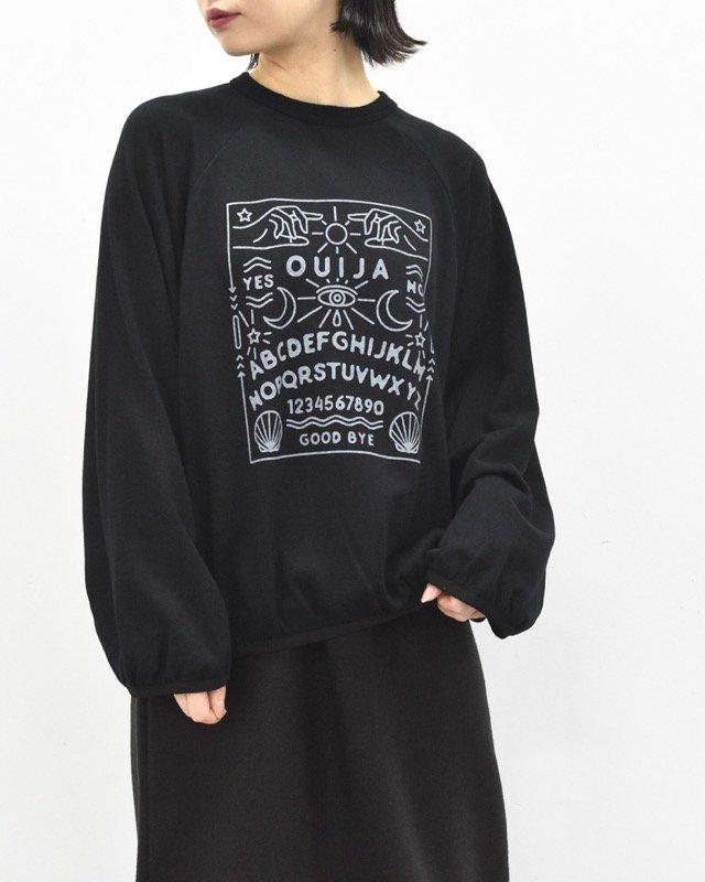 bedsidedrama / OUIJAバルーンスウェット - BLACK