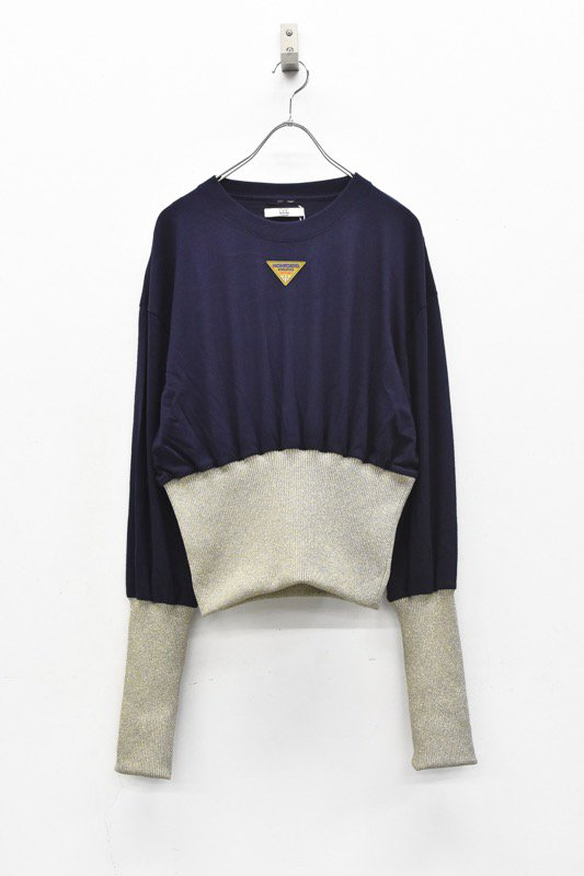 NON TOKYO / ボンバーロングTシャツ - NAVY