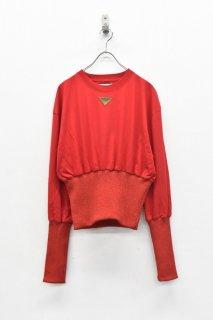 NON TOKYO / ボンバーロングTシャツ - RED