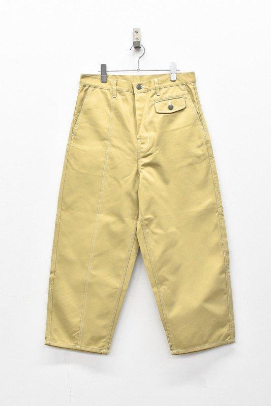 prasthana / white stitch work pants - BEIGE