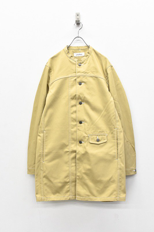 prasthana / white stitch work coat - BEIGE