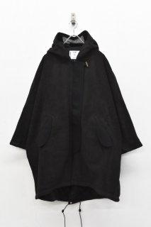 STORAMA / Fleece MODS wool coat - BLACK