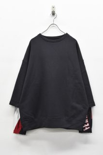 YEAH RIGHT!! / LAYER SWEAT TOPS - CHARCOAL