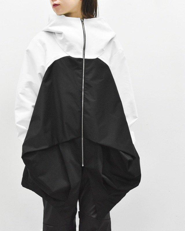 chloma / NFコンプレクスパーカー - ホワイト*ブラック