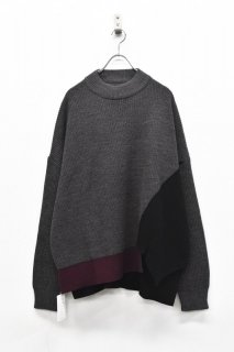 elephant TRIBAL fabrics / It's Of Knit - BLACK