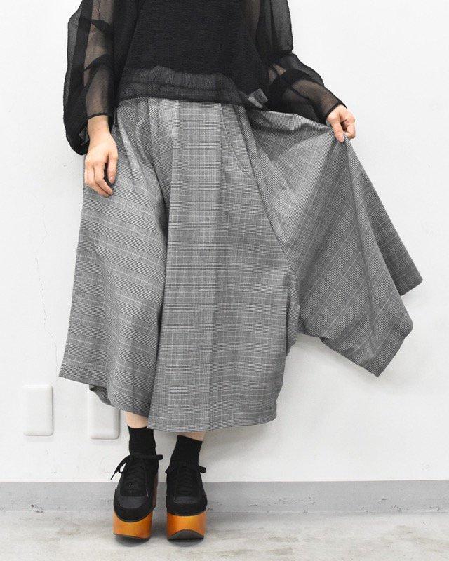 RIDDLEMMA / Three legs pants half - GRAY