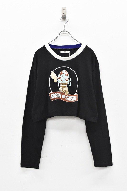 NON TOKYO / 刺繍ロングTシャツ - BLACK