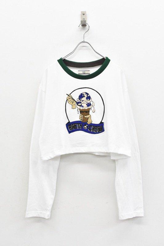 NON TOKYO / 刺繍ロングTシャツ - WHITE