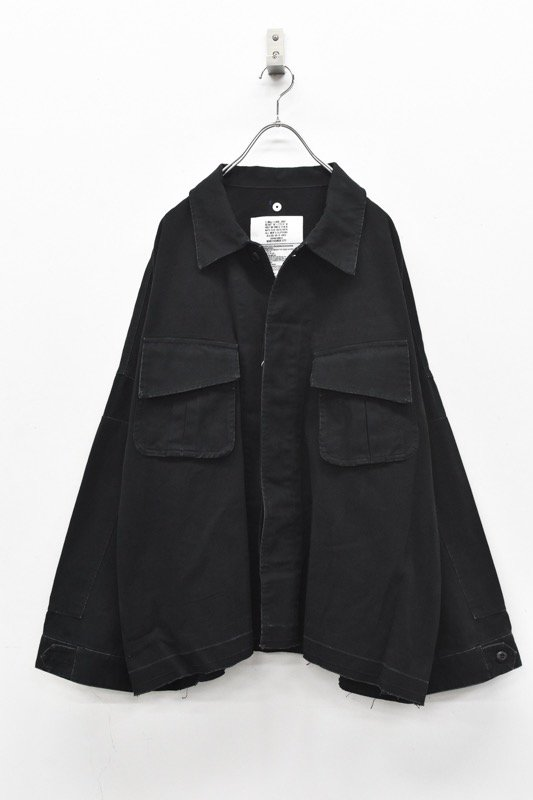 elephant TRIBAL fabrics / 8XL Cut Fatigue Shirt - BLACK