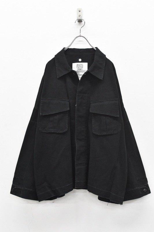 elephant TRIBAL fabrics / 8XL Cut Fatigue Shirt - BLACK