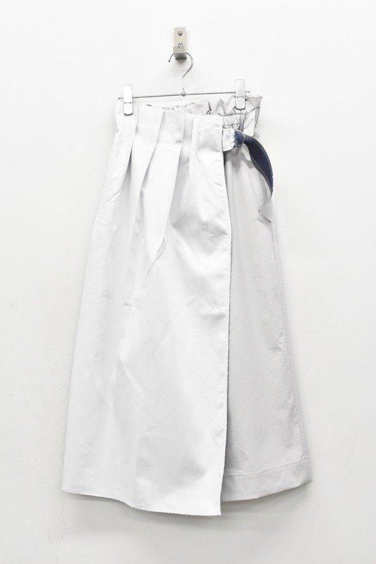 sneeuw / ボンディングmixラップスカート - WHITE