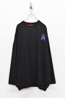 STOF / ルーツ刺繍プルオーバー PANGEA - BLACK